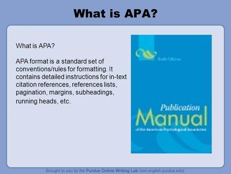 Formatting Your Essay in APA